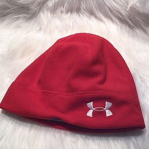 Under Armour Fleece Beanie Red Hat Men/Women